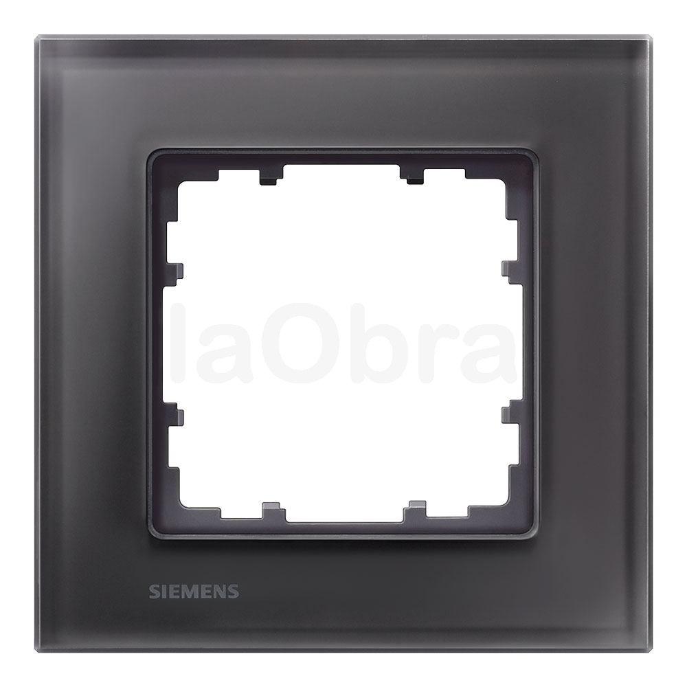 Marco cristal negro Siemens Delta Miro con envío rápido | laObra