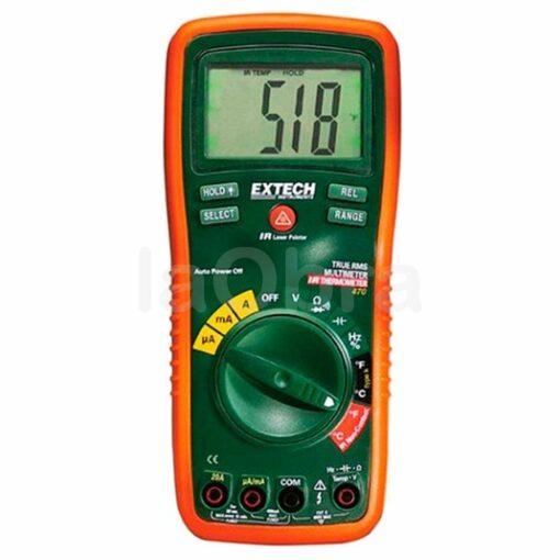 Multímetro profesional termómetro IR trms Extech EX470