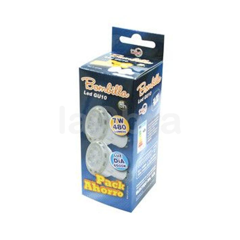 Caja del pack ahorro bombilla led GU10