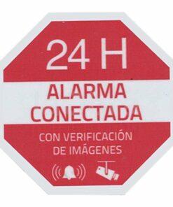 Pegatina serigrafía alarma conectada