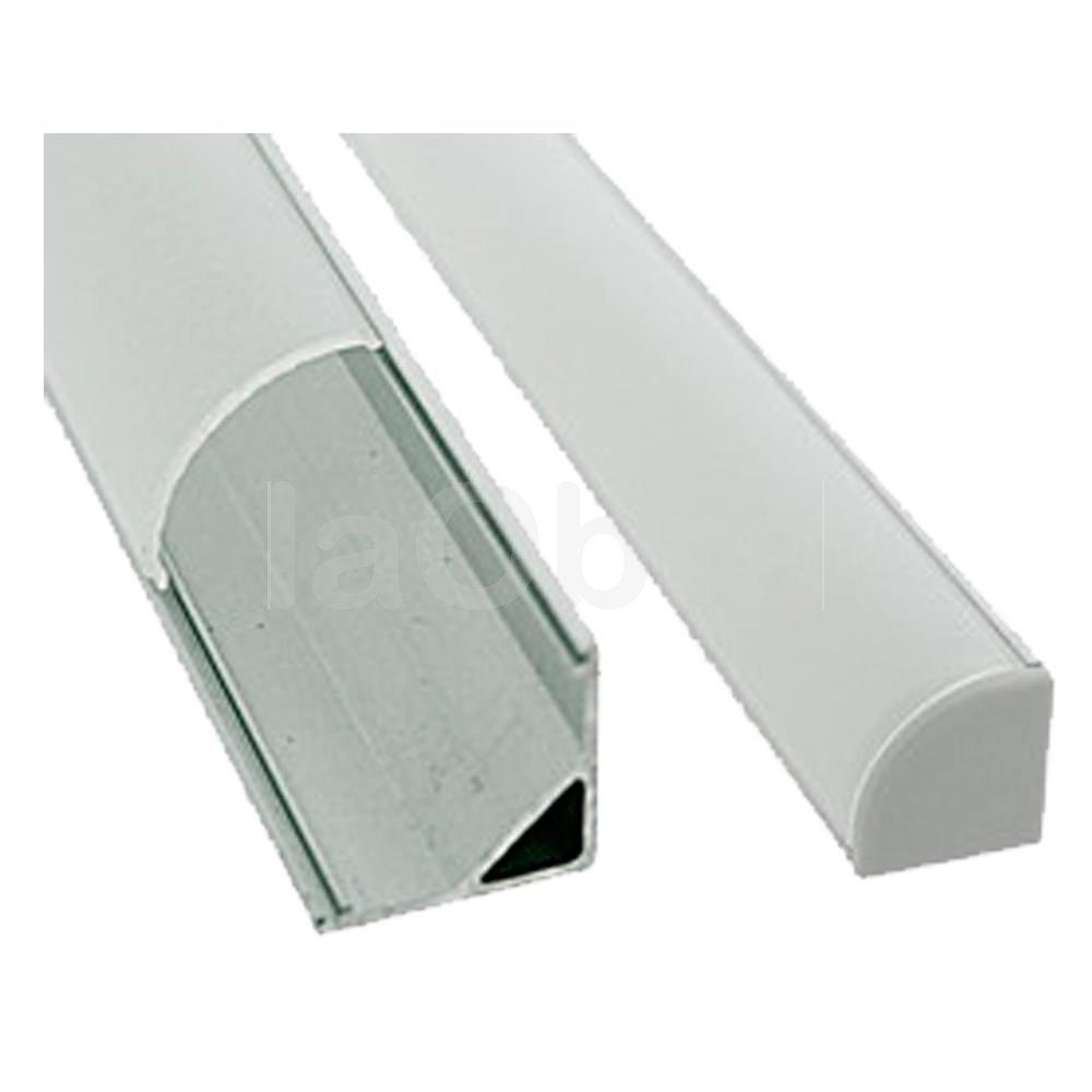 Perfil aluminio ángulo para tira led