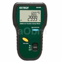Pinza amperimétrica mordaza flexible Extech 382400