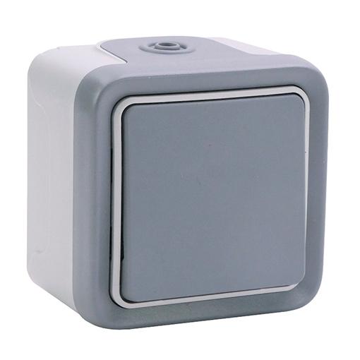 Pulsador estanco gris Plexo 069720