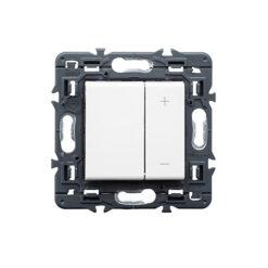 Regulador pulsador universal blanco