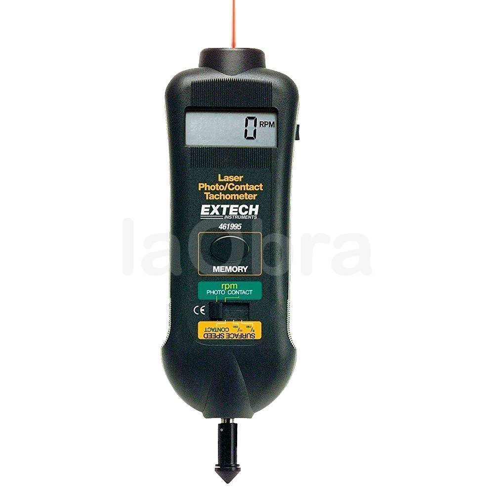 Tacómetro óptico contacto guia laser Extech 461995
