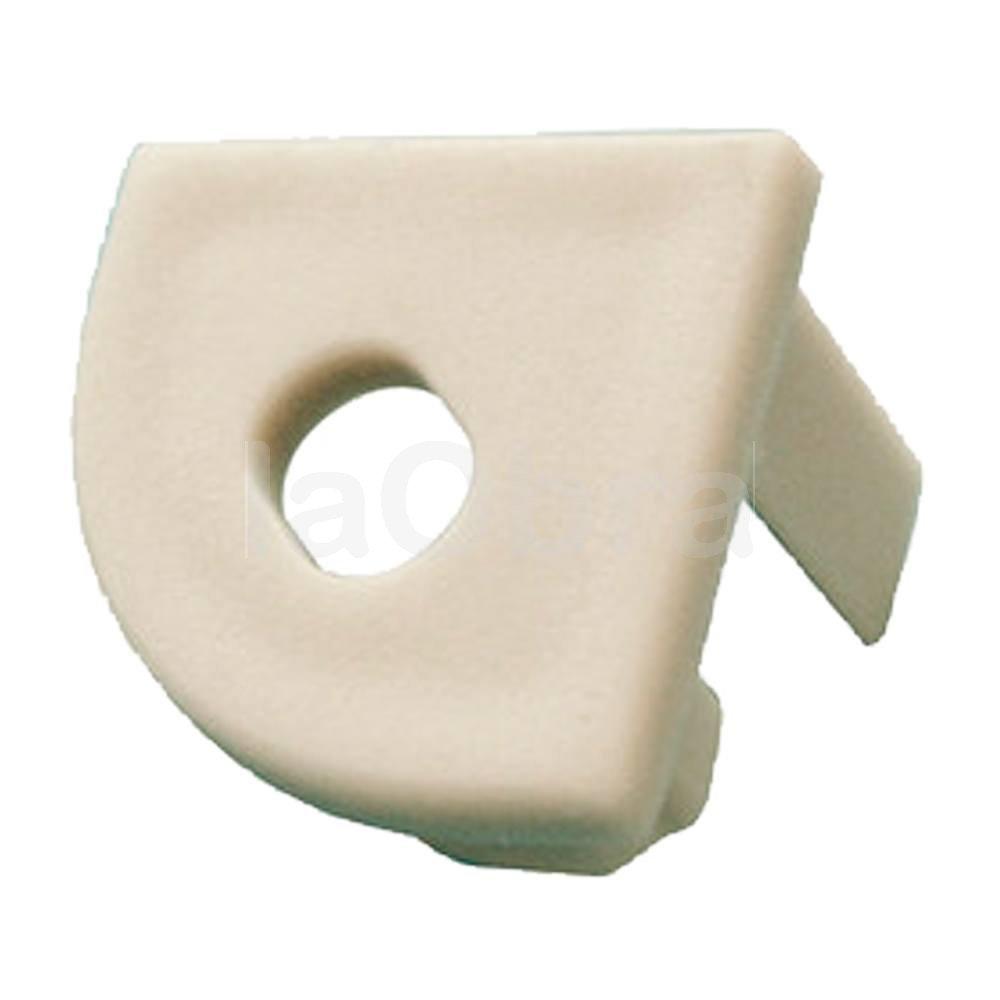 Tapa final perforada perfil aluminio ángulo para tira led