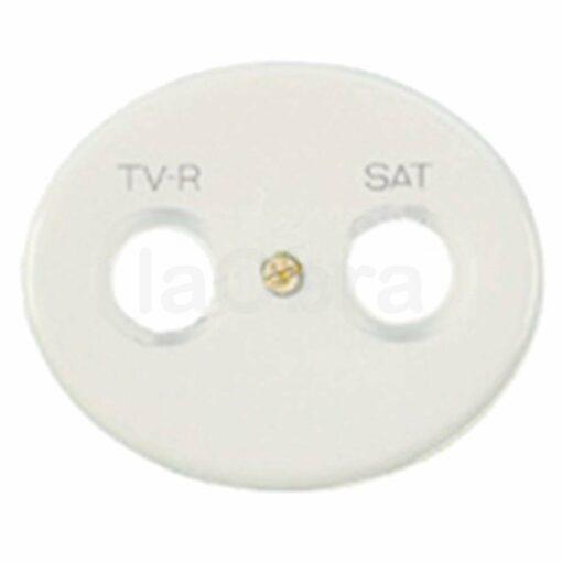 Tapa televisión Niessen Tacto blanca
