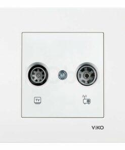 Tapa televisión Viko Karre blanco