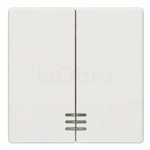 Tecla doble interruptor visor Siemens Delta blanco titán