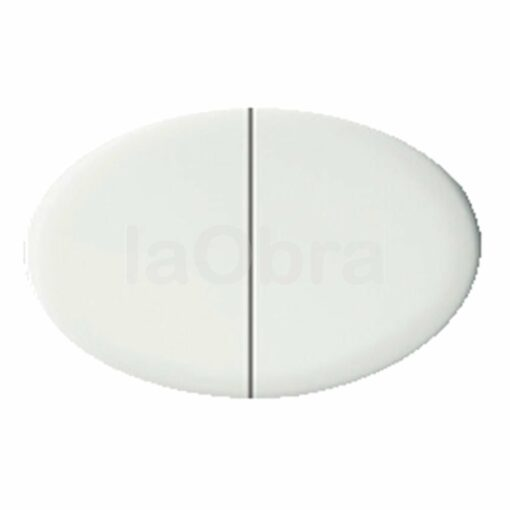 Tecla doble interruptor Niessen Tacto blanco