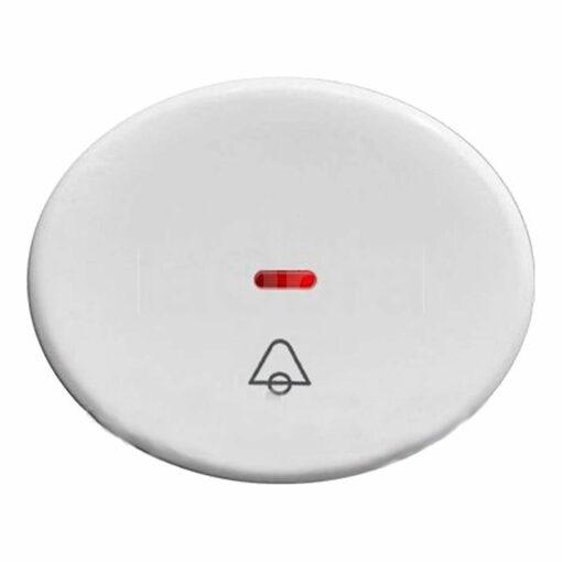 Tecla pulsador campana con visor Niessen Tacto blanco