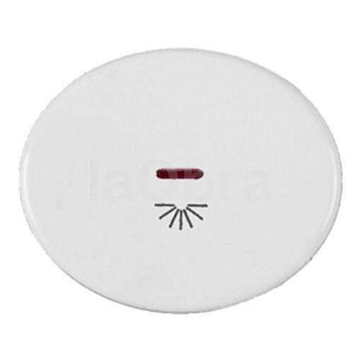 Tecla pulsador luz con visor Niessen Tacto blanco