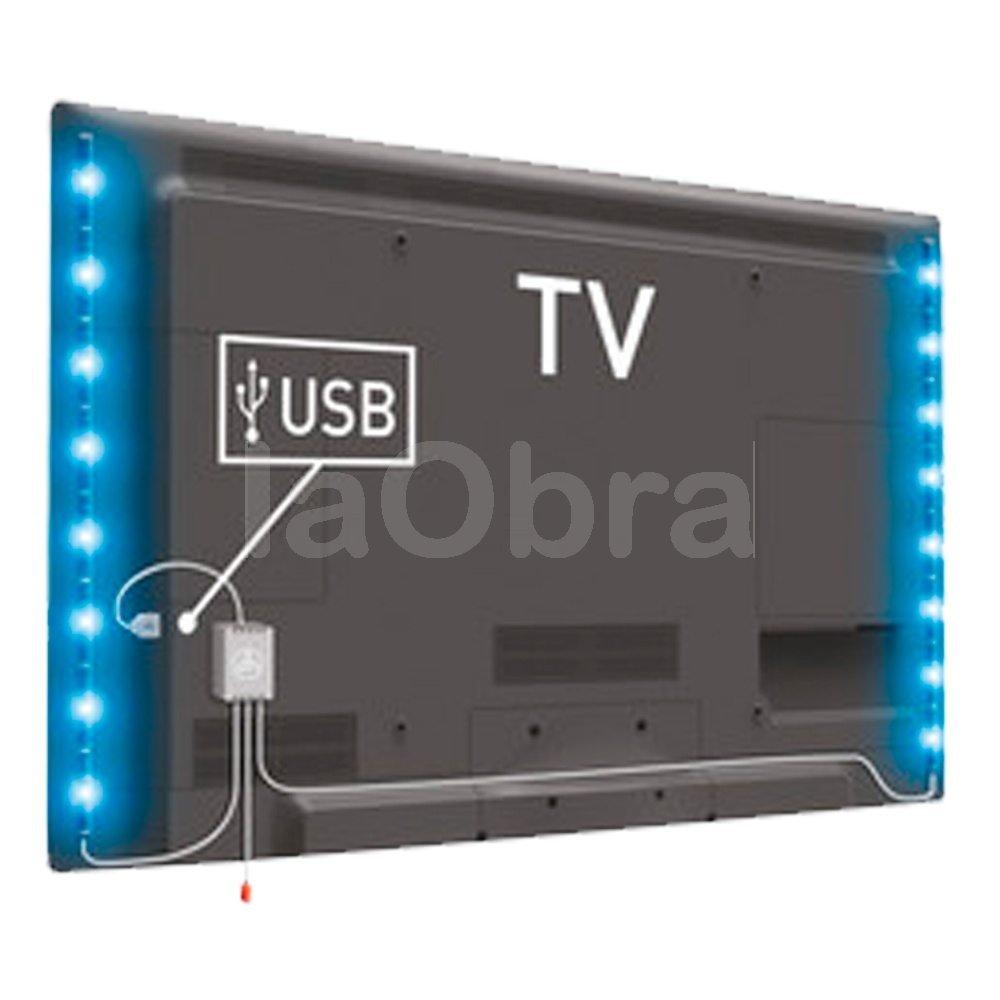 Tira led rgb ambiente para televisiones al mejor precio y for Tiras led para tv