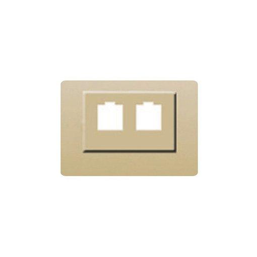 Toma doble rj11/rj45 dorado perla