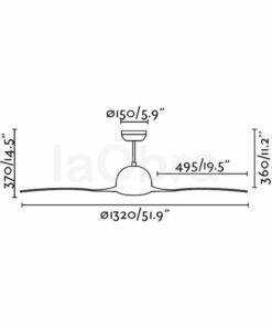 Ventilador de techo Lakki dimensiones