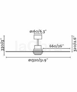 Ventilador de techo Lantau dimensiones