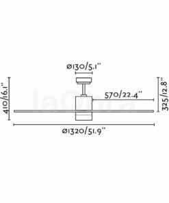Ventilador de techo Palk dimensiones
